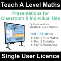 Teach A Level Maths Year 1/AS Single User Licence